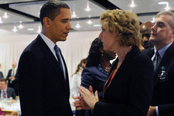 Barack Obama og Connie Hedgaard